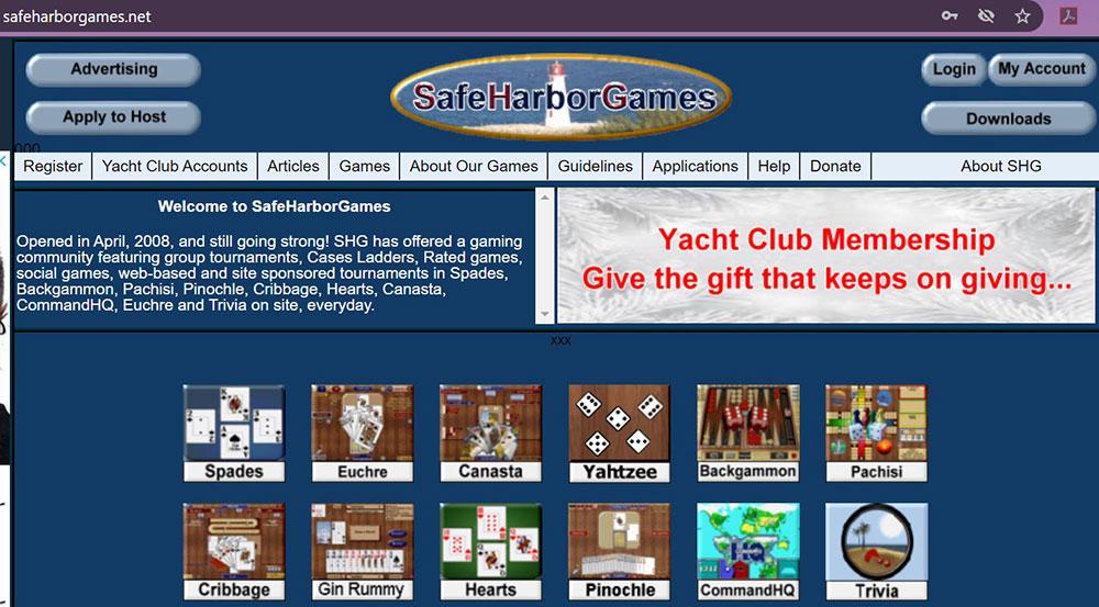 Safe Harbor Games