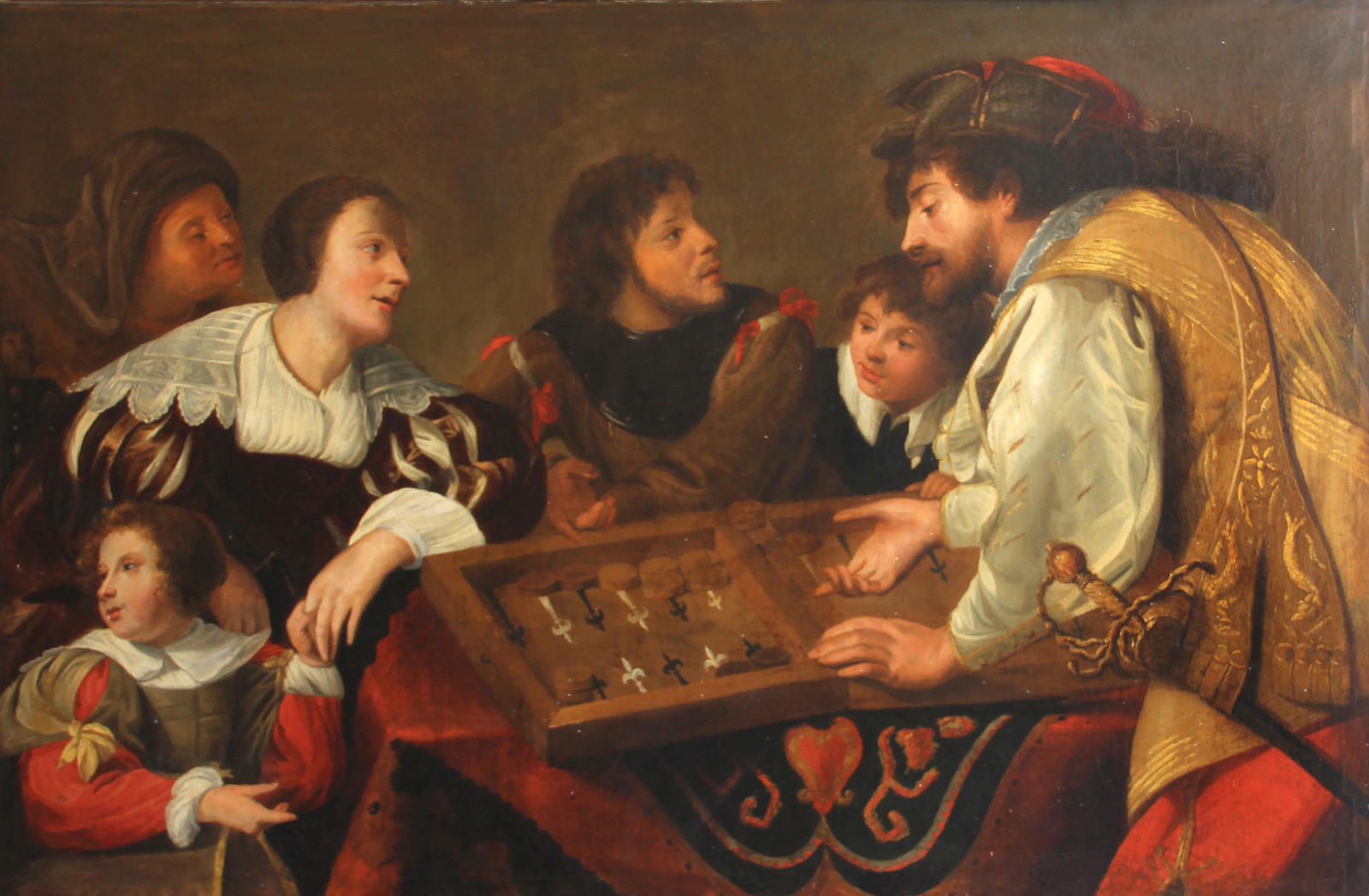 The Backgammon Players by Theodor Rombouts, Oil on Canvas, 1634